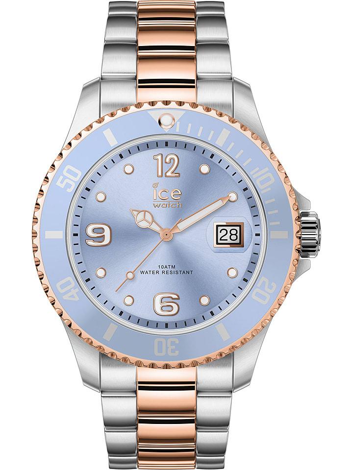 """Ice Watch Zegarek kwarcowy """"Steel"""" w kolorze srebrno-różowozłoto-błękitnym"""