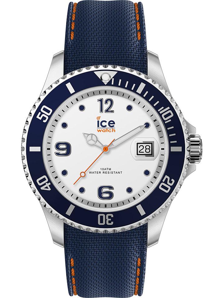"""Ice Watch Zegarek kwarcowy """"Steel"""" w kolorze biało-srebrno-niebieskim"""