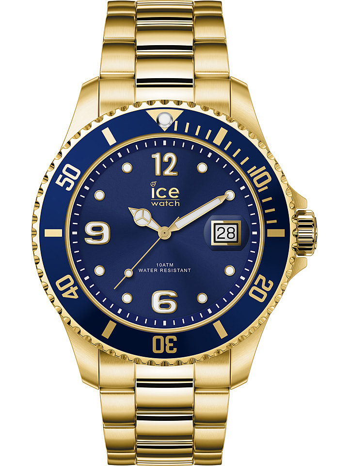 """Ice Watch Zegarek kwarcowy """"Steel"""" w kolorze niebiesko-złotym"""