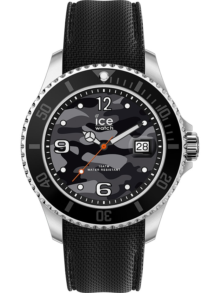 """Ice Watch Zegarek kwarcowy """"Steel"""" w kolorze czarno-szaro-srebrnym"""