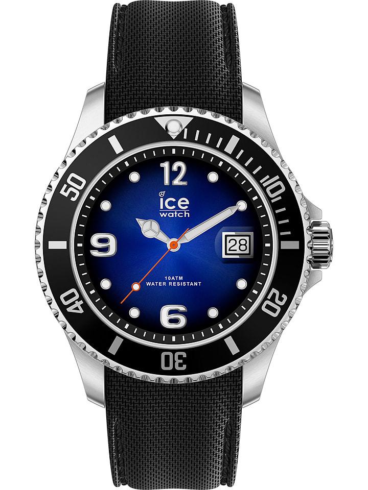 """Ice Watch Zegarek kwarcowy """"Steel"""" w kolorze srebrno-granatowo-czarnym"""