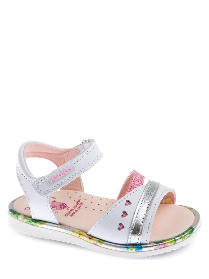 Pablosky Leren sandalen wit