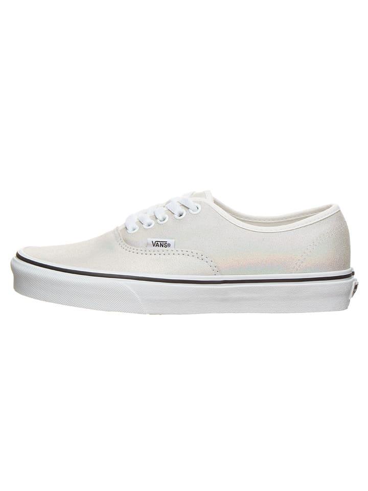 """Vans Skórzane sneakersy """"Authentic"""" w kolorze srebrnym"""