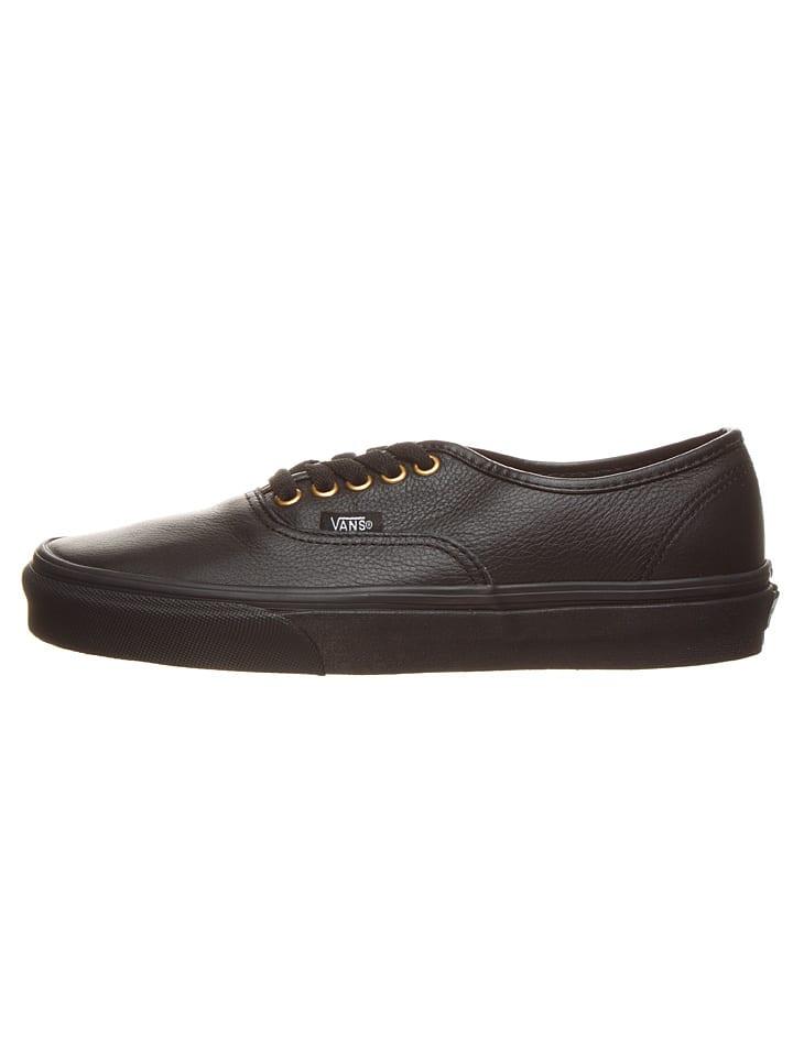 """Vans Leren sneakers  """"Authentic """" zwart"""