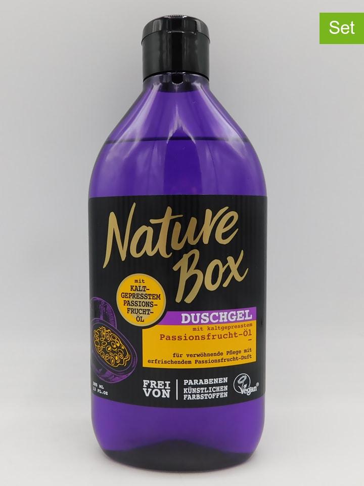"NATURE BOX 3er-Set: Duschgele ""Passionsfrucht-Öl"", je 385 ml"