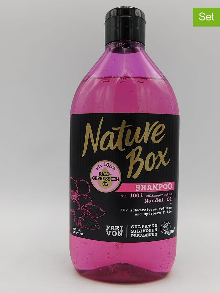 "NATURE BOX 3er-Set: Shampoos ""Mandel-Öl"", je 385 ml"