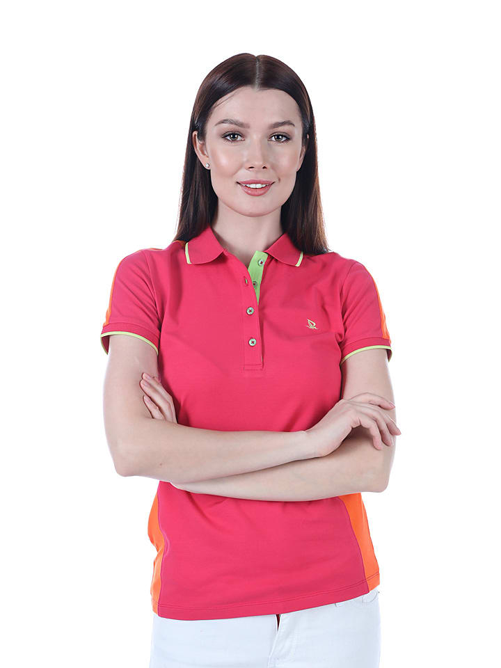 GIORGIO DI MARE Koszulka polo w kolorze różowym