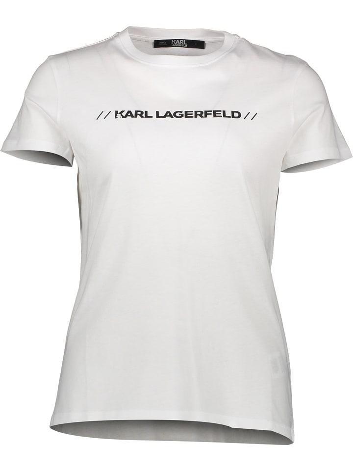 "Karl Lagerfeld Shirt ""Athleisure"" wit"