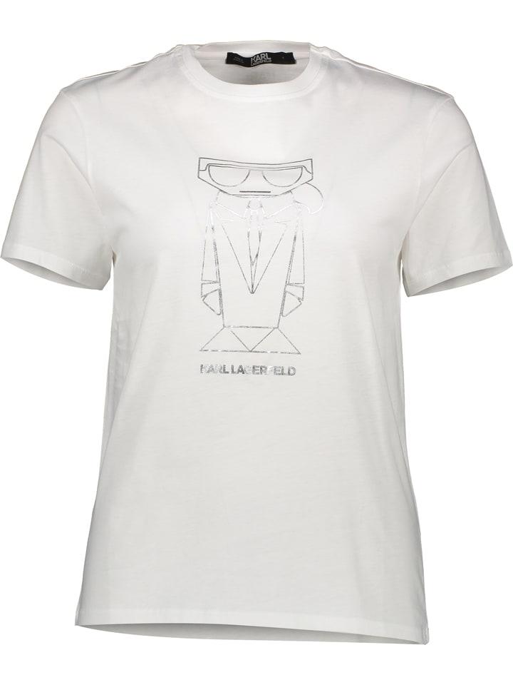 "Karl Lagerfeld Shirt ""Kocktail Oversized"" wit"