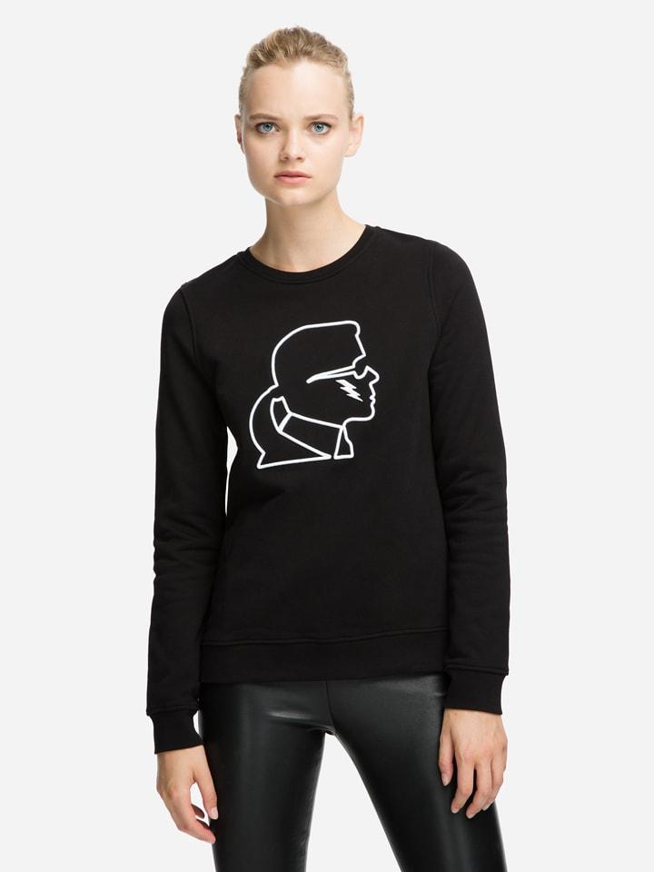 "Karl Lagerfeld Sweatshirt ""Karl Lighting Bolt"" zwart"