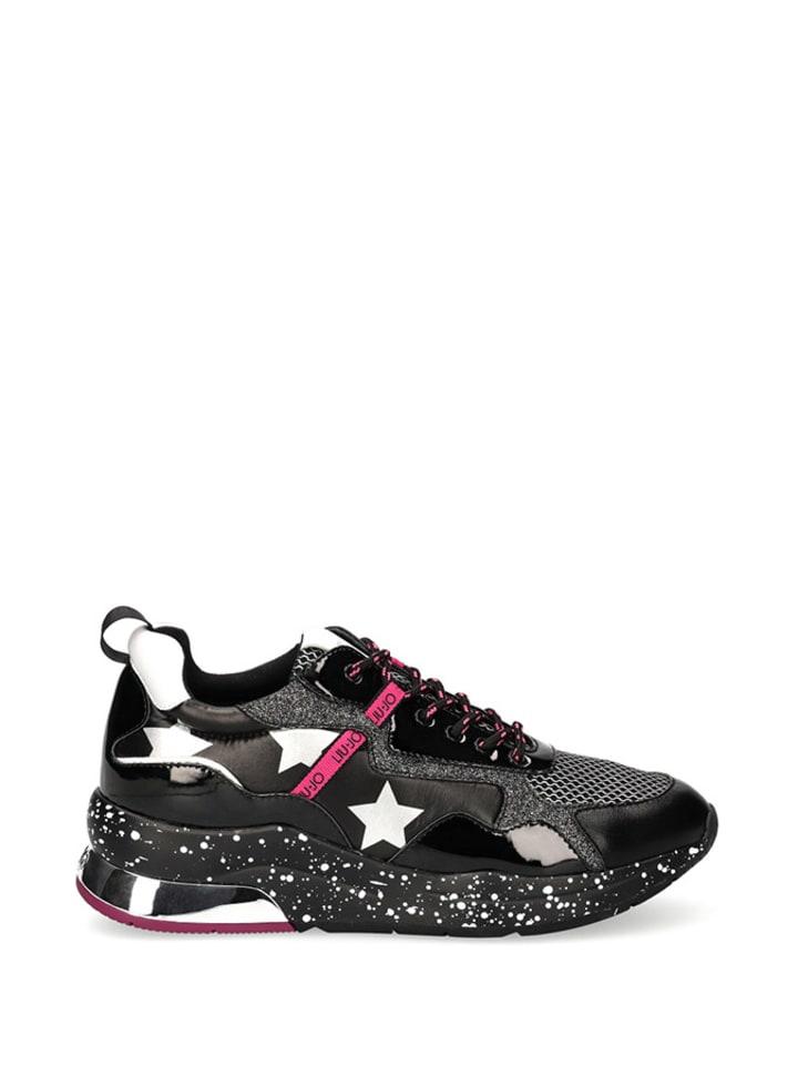 Liu Jo Sneakersy w kolorze czarno-biało-szarym