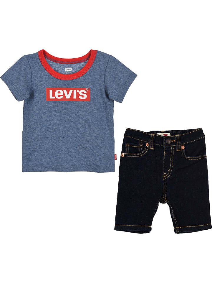 Levi's Kids 2-częściowy zestaw w kolorze czarno-niebieskim