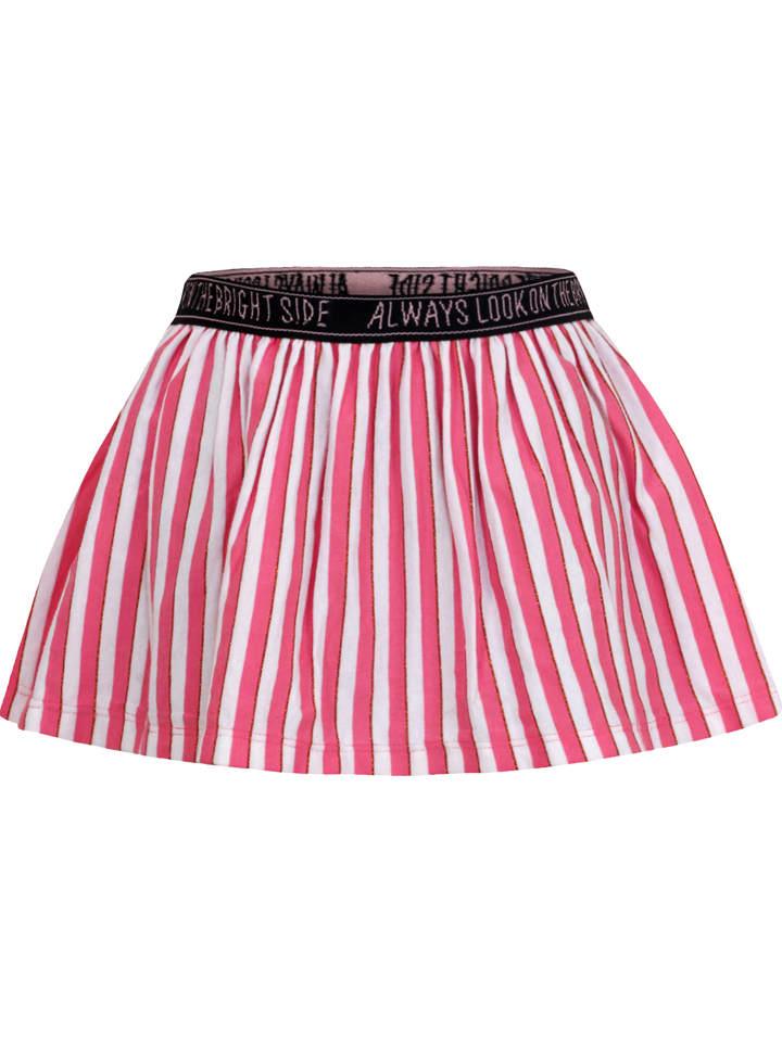 Beebielove Spódnica w kolorze różowo-białym