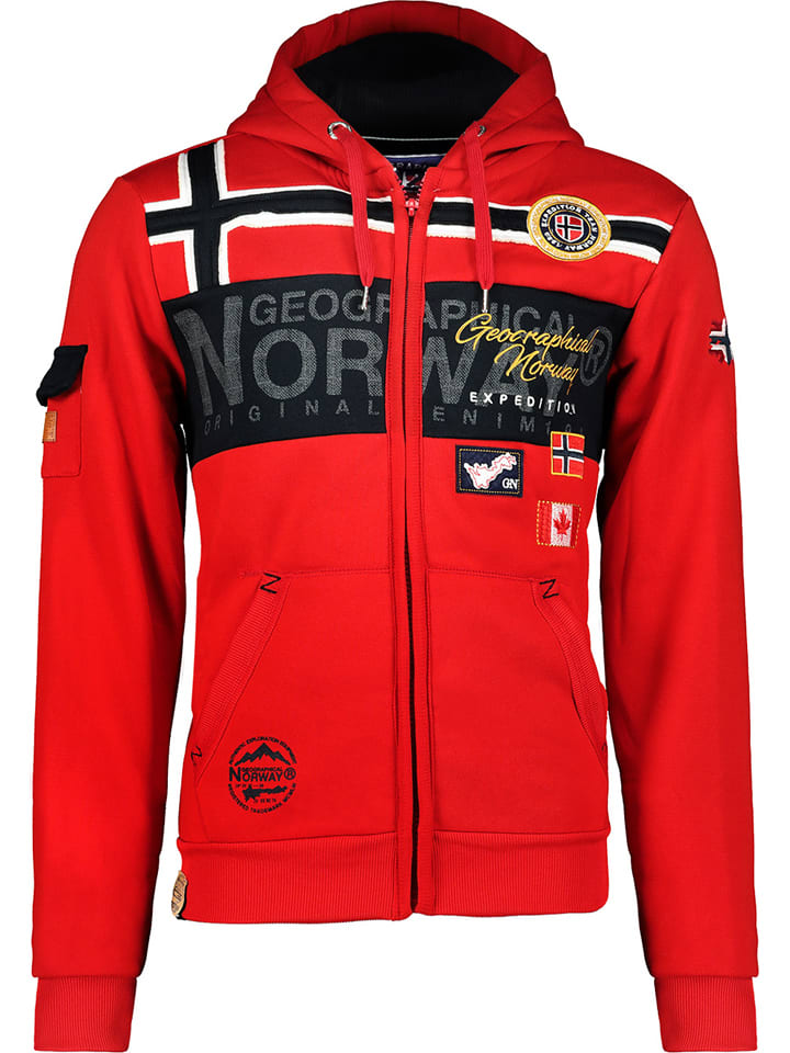 "Geographical Norway Sweatvest ""Garadock"" rood"