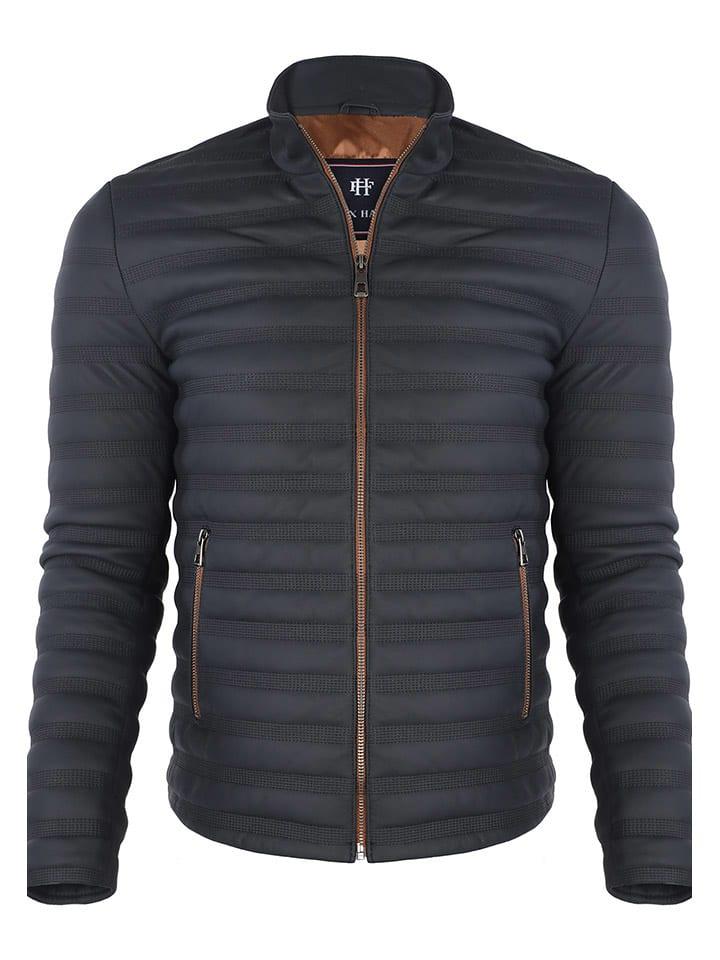 Felix Hardy Leren jas donkerblauw
