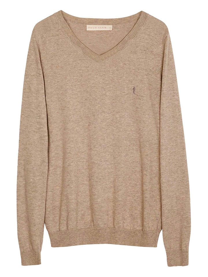 Polo Club Pullover in Beige