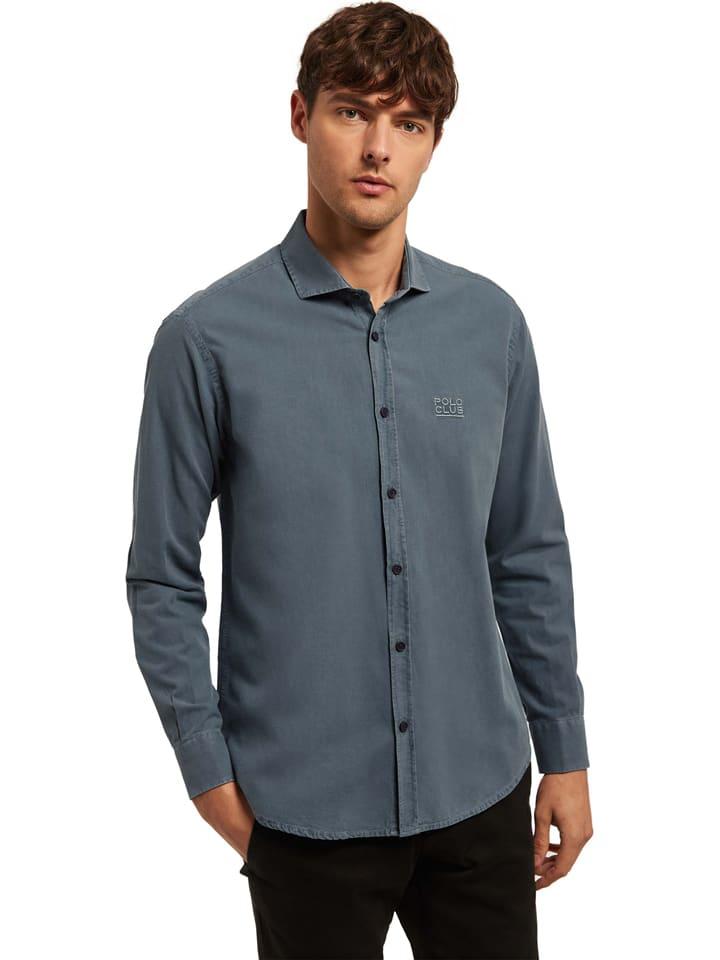 Polo Club Hemd - Custom fit - in Blau