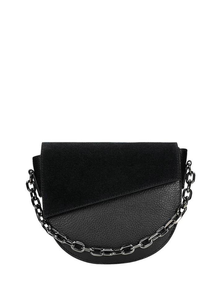Wojas Skórzana torebka w kolorze czarnym