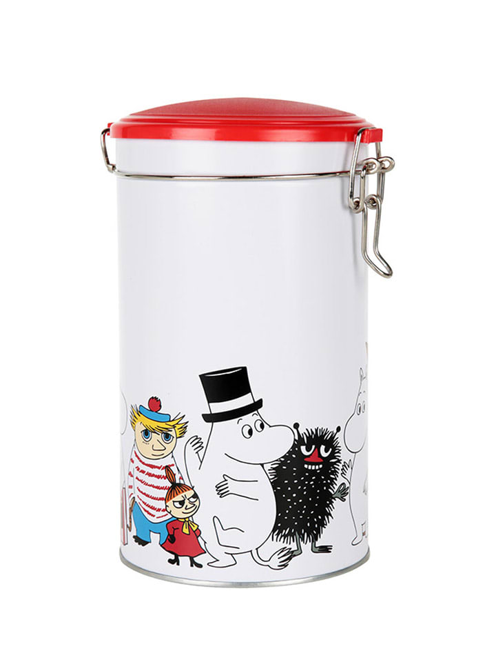 Moomin Pojemnik w kolorze biało-czerwonym na kawę - (W)20 x Ø 14 cm