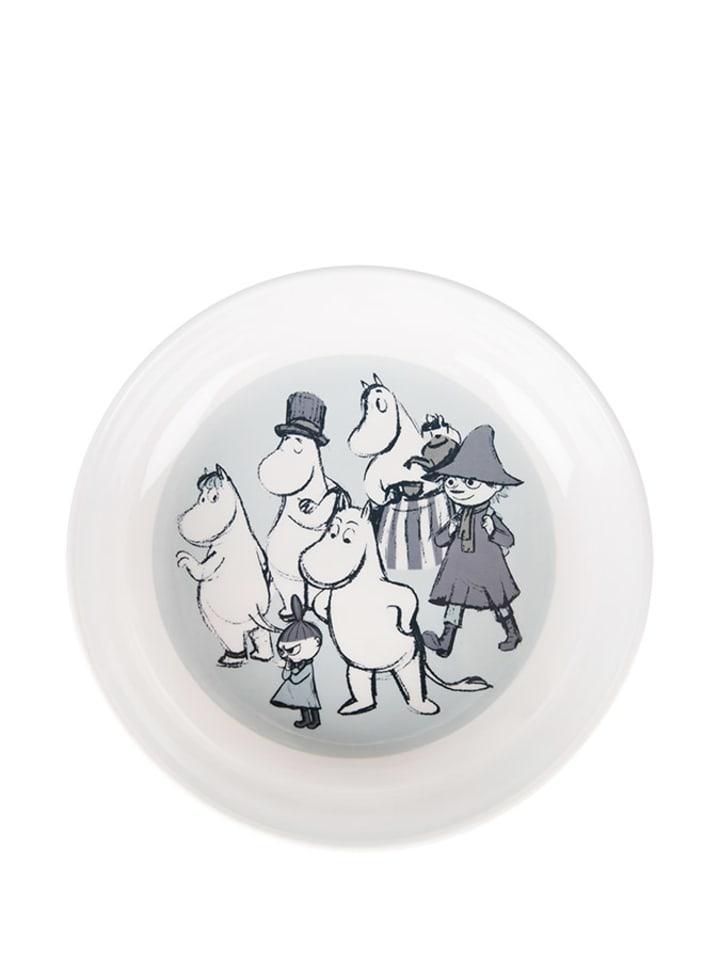 Moomin Talerz w kolorze białym ze wzorem - Ø 20 cm