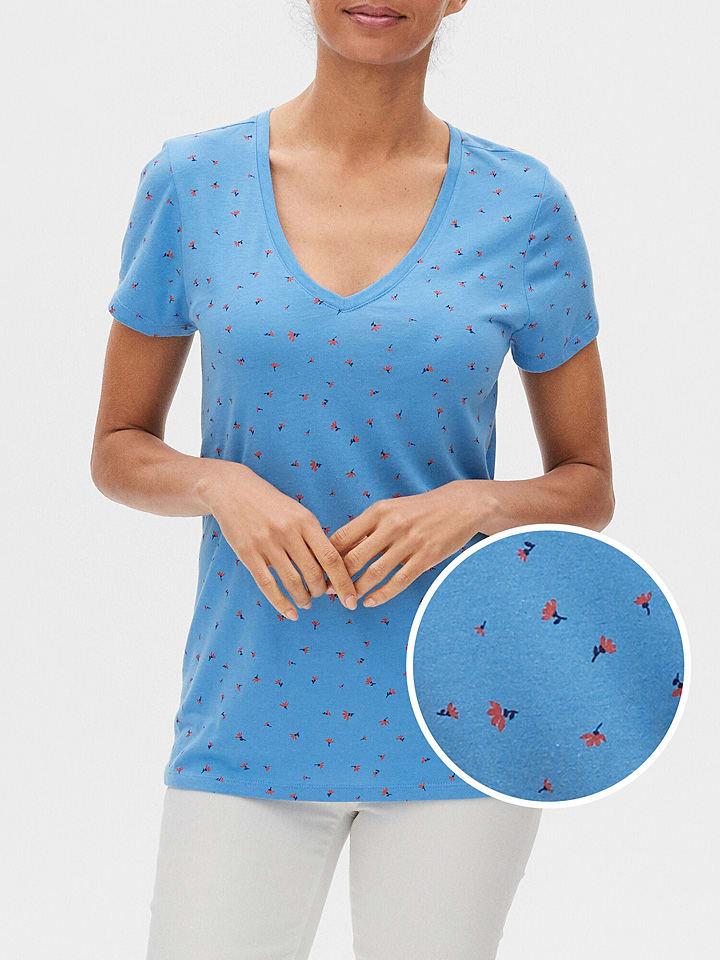 GAP Koszulka w kolorze błękitno-czerwonym