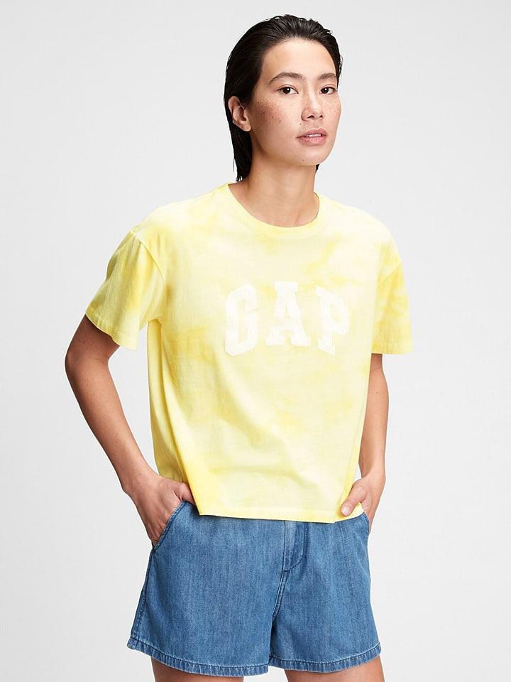 GAP Koszulka w kolorze żółtym