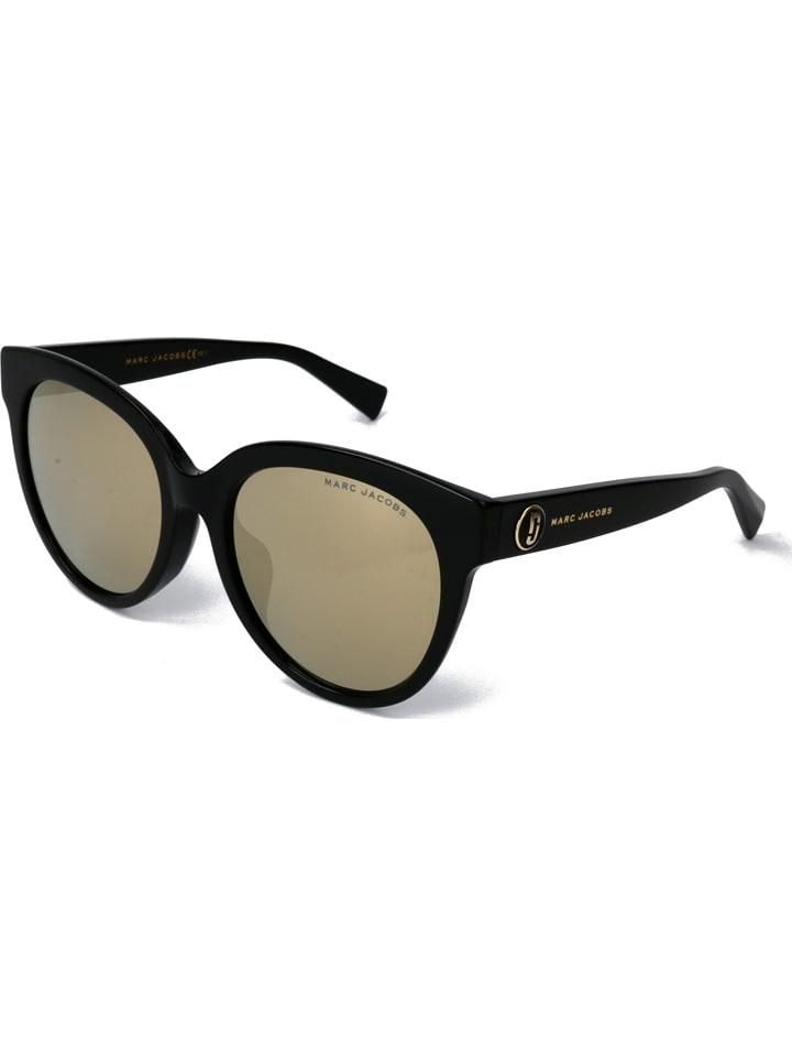Marc Jacobs Damskie okulary przeciwsłoneczne w kolorze czarno-niebiesko-złotym