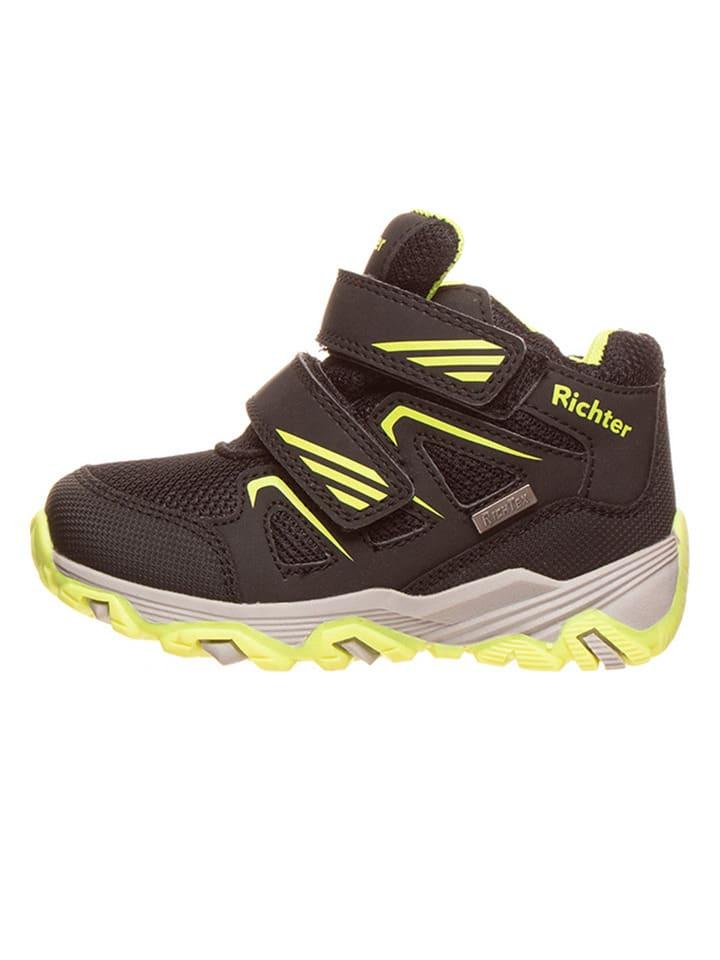 Richter Shoes Sneakersy w kolorze czarno-zielonym
