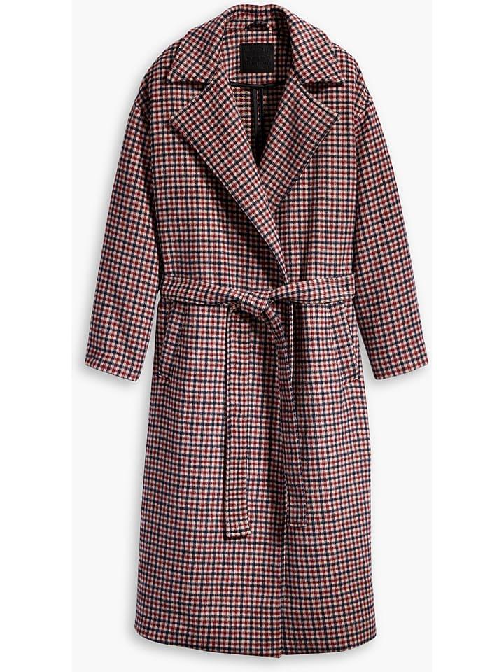 Levi´s Płaszcz przejściowy w kolorze czerwono-czarnym