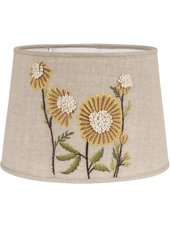 "PR Home Lampenkap ""Sofia Embroidery"" beige/geel - (H)21 x Ø 30"