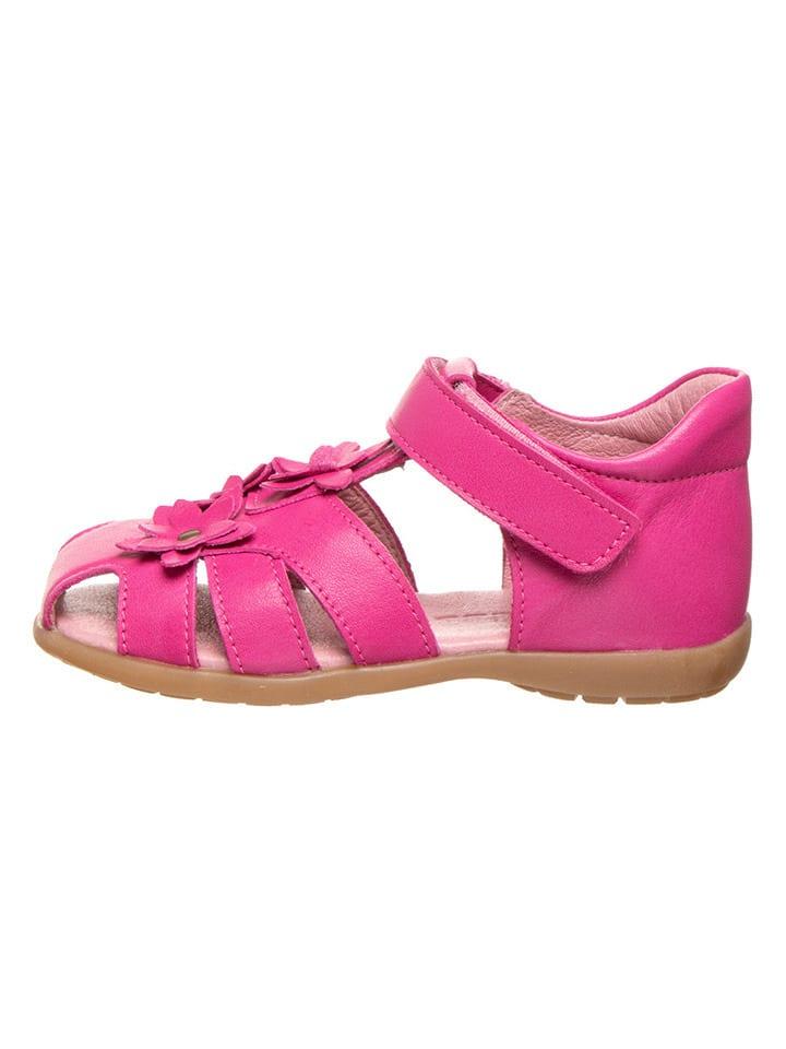 BO-BELL Leren enkelsandalen roze