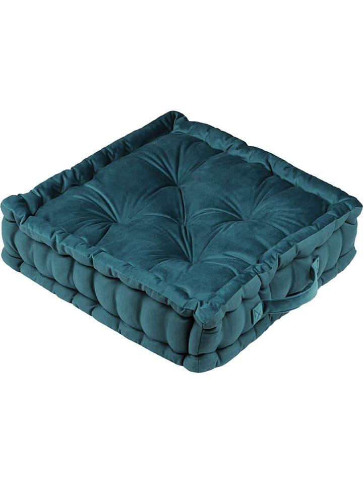 "STOF France Vloerkussen ""Tania"" blauw/groen - (L)45 x (B)45 cm"
