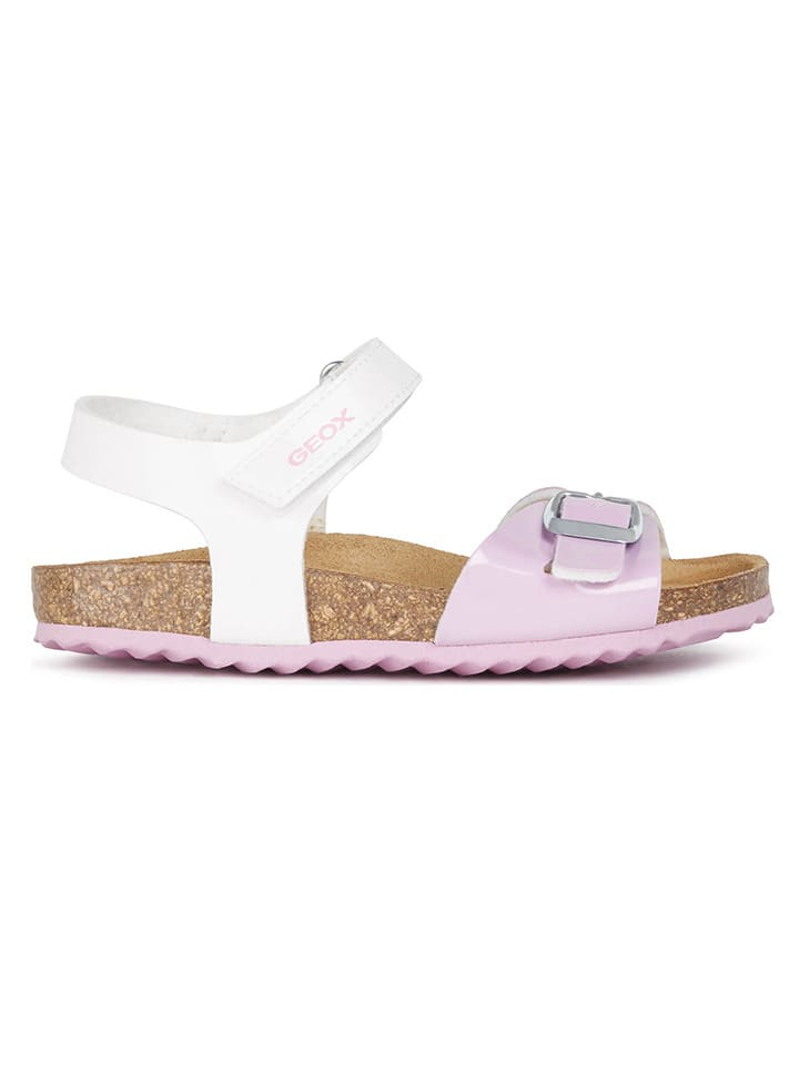 """Geox Sandały """"Adriel"""" w kolorze biało-jasnoróżowym"""