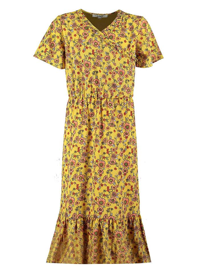 Garcia Sukienka w kolorze żółtym