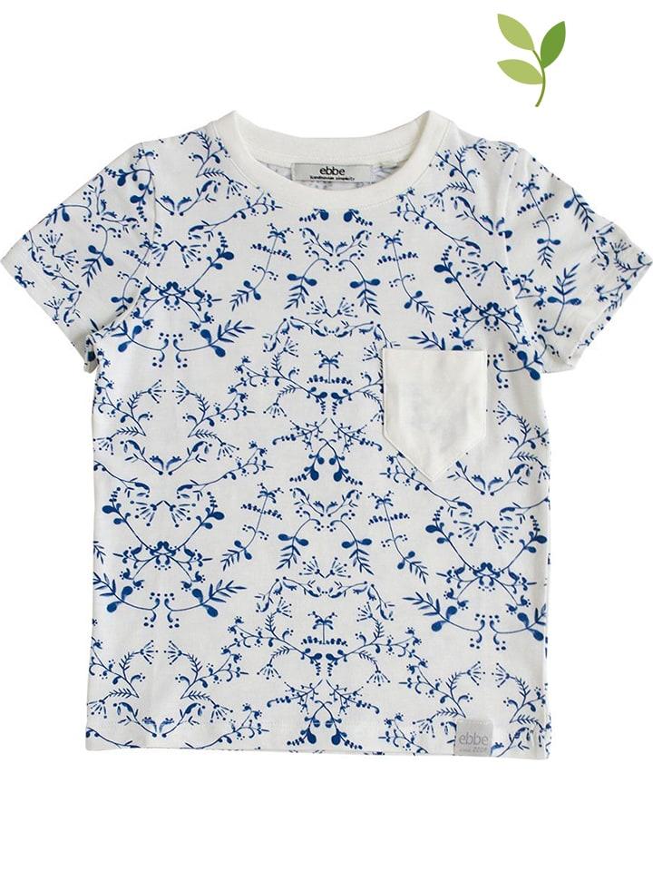 """Ebbe Koszulka """"Richmond"""" w kolorze biało-niebieskim"""