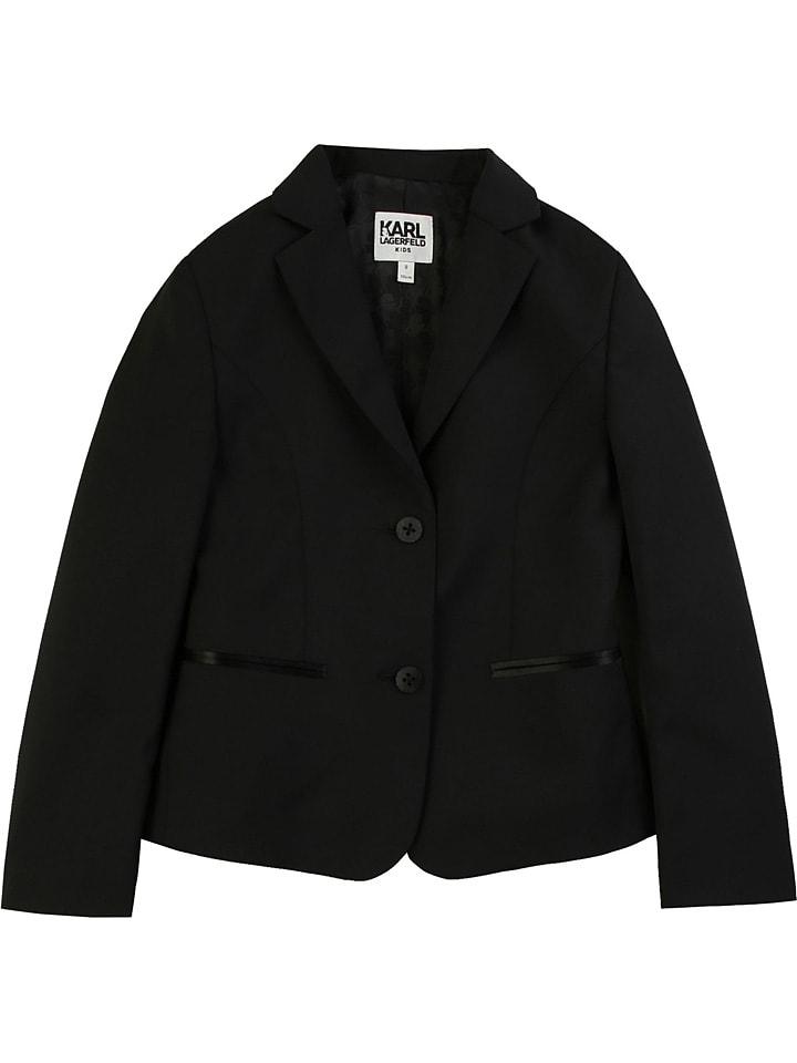 Karl Lagerfeld Kids Marynarka w kolorze czarnym