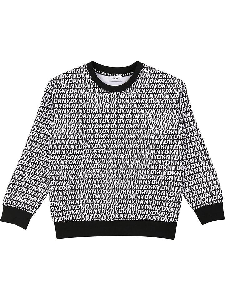 DKNY Sweatshirt in Schwarz/ Weiß
