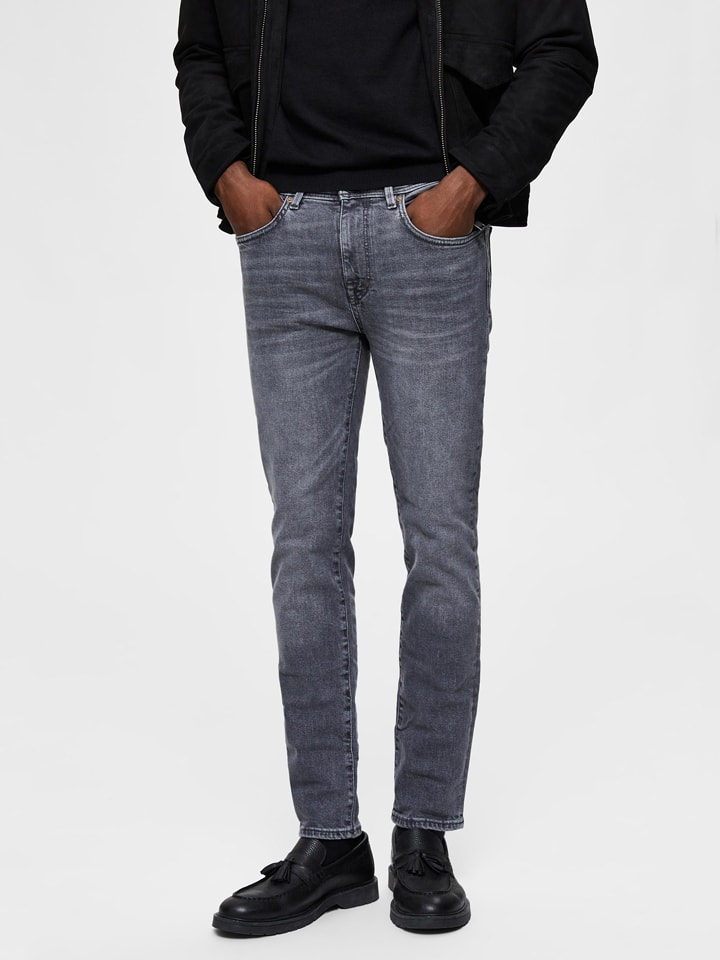 """SELECTED HOMME Jeans """"Pete"""" - Skinny fit - in Grau"""