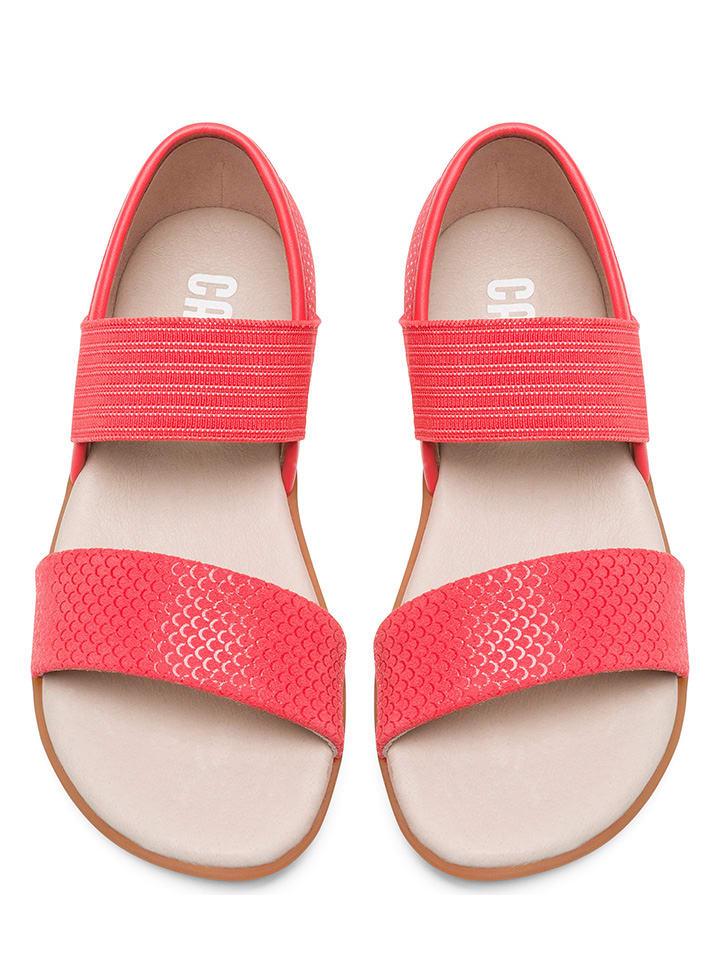 """Camper Leder-Sandalen """"Right"""" in Pink"""