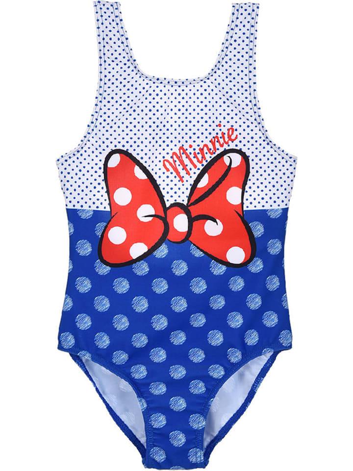 """Disney Minnie Mouse Strój kąpielowy """"Minnie Mouse"""" w kolorze niebieskim"""