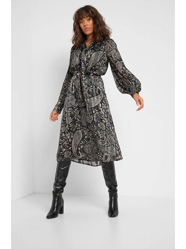 Orsay Sukienka w kolorze czarno-szarym