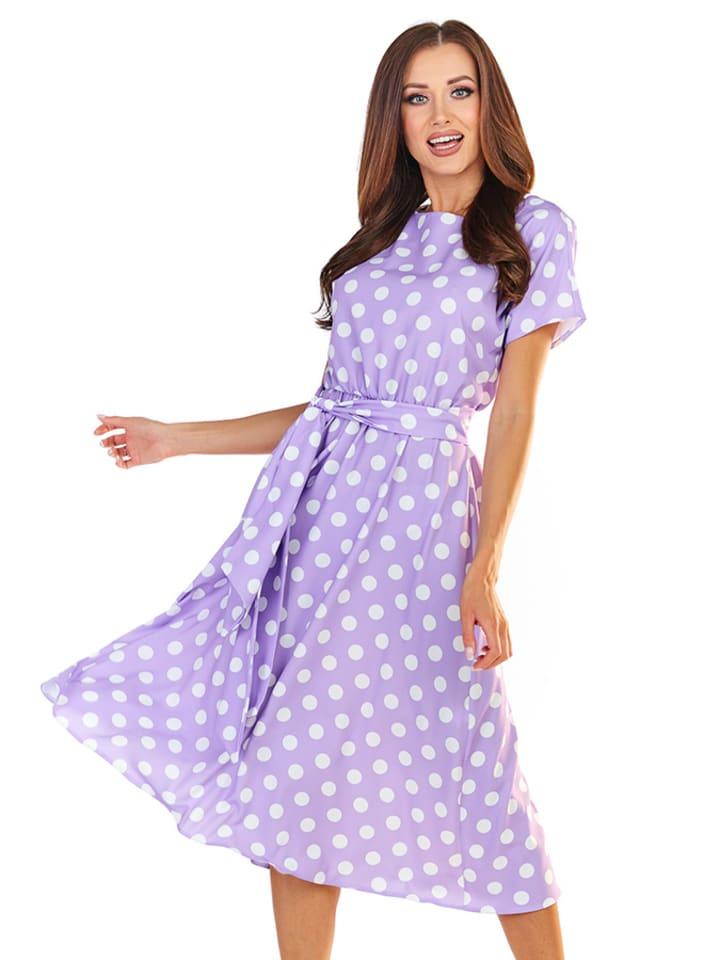 Awama Kleid In Lila Bunt Gunstig Kaufen Limango