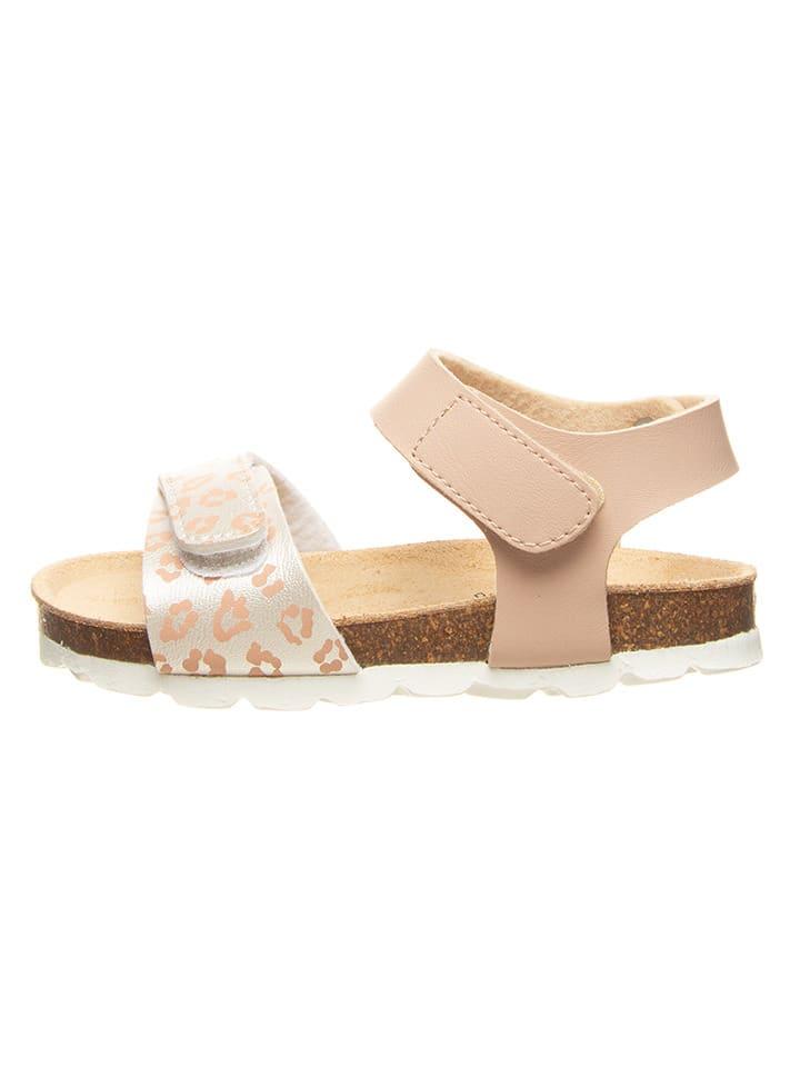 Billowy Sandały w kolorze jasnoróżowo-srebrnym