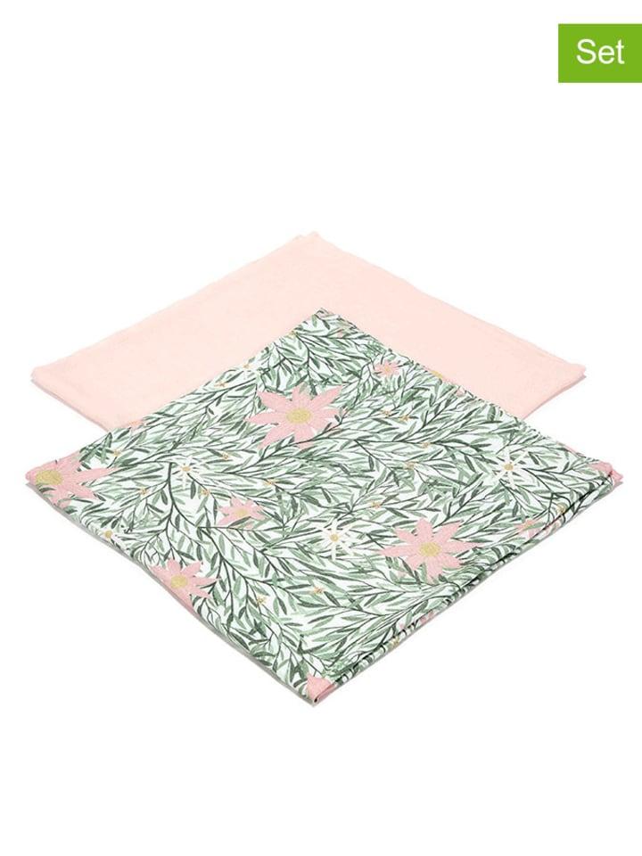 """La Millou Pieluszka """"100% Bamboo"""" (2 szt.) - Pony Meadow & Powder Pink"""