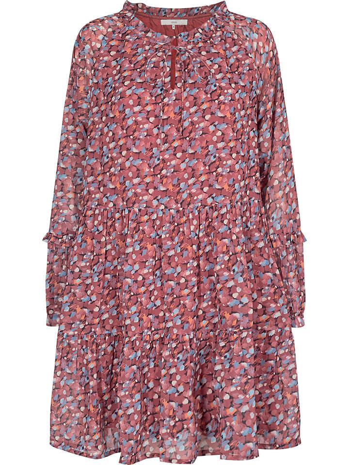 """NÜMPH Sukienka """"Cait"""" w kolorze jasnoróżowo-błękitnym"""