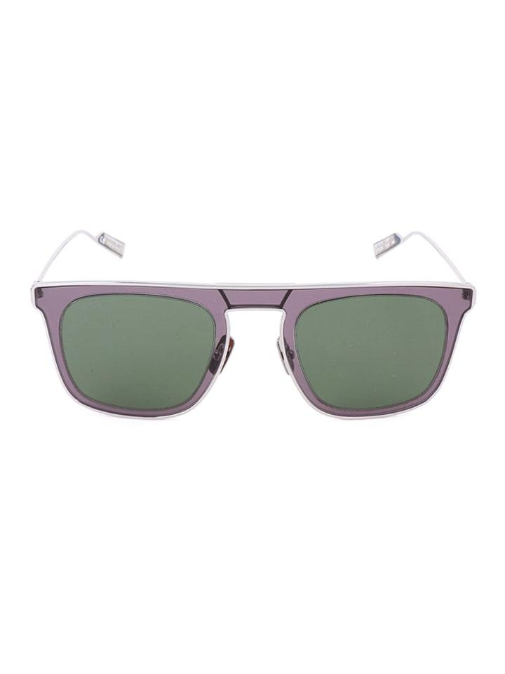 Salvatore Ferragamo Męskie okulary przeciwsłoneczne w kolorze fioletowo-szaro-zielonym