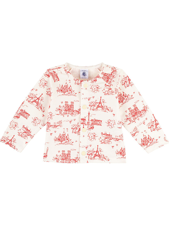 PETIT BATEAU Vest wit/lichtroze
