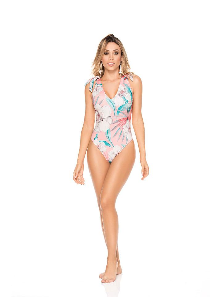 """PHAX swimwear Badeanzug """"Cherry Blossom"""" in Rosa/ Türkis"""