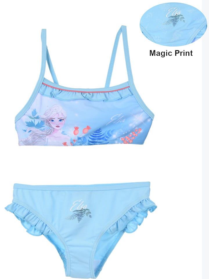 """Disney Frozen Bikini """"Frozen"""" w kolorze błękitnym"""