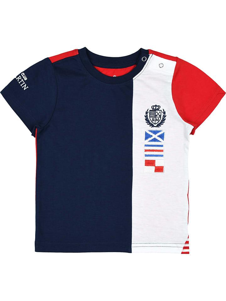 Koszulka w kolorze biało-granatowo-czerwonym